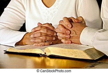 神圣, 夫婦, 聖經, 祈禱
