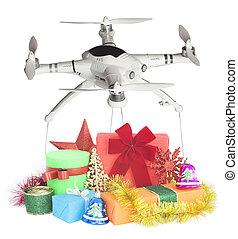 禮物, 交付, 雄峰, 假期, 聖誕節