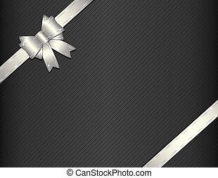 禮物, 紙, 銀, 帶子