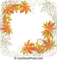 秋季离去, 白色 背景, 鮮艷