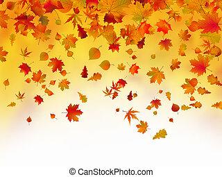 秋季离去, 被下跌, 背景