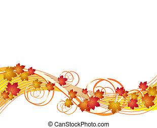 秋季离去, 飛行, 背景