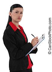 秘書, 剪貼板, 寫