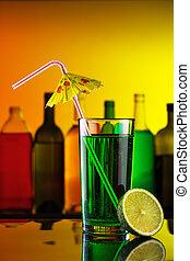秸桿, 酒吧, 酒精, 雞尾酒, 石灰