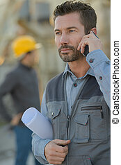 移動電話, 建築工地, 工程師