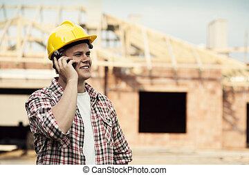 移動電話, 建設工人