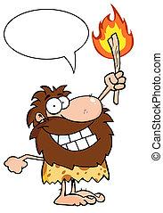 穴居人, 火炬, 向上, 藏品, 火熱