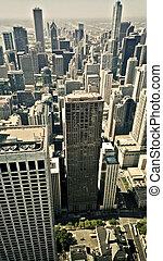 空中的觀點, 城市, 芝加哥