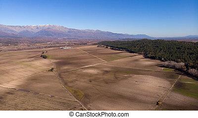 空中的觀點, 收穫, 領域