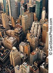 空中, 城市, 城市, 看法