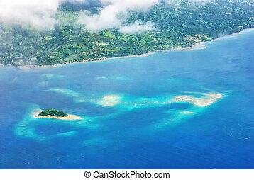 空中, 心形, tavarua, 島, 看法
