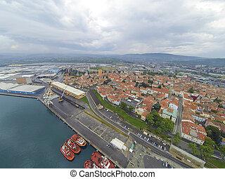 空中, 港口, koper, 看法