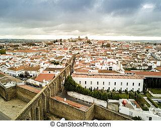 空中, 葡萄牙, alentejo, 具有歷史意義, evora, 看法
