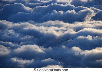 空中, clouds.