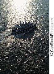 空中, ferryboat.