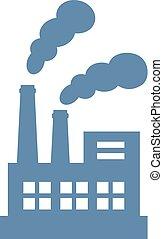 空氣, 矢量, 工廠, 圖象, 污染