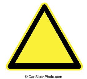 空白, 三角形, 危險, 危險