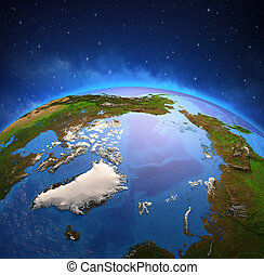 空間, 桿, 海洋, 北極, 北方