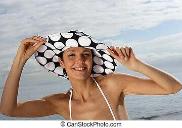 穿, 婦女, 帽子