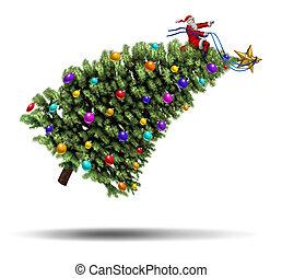 突進, 聖誕節