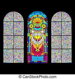 窗口, 被玷污-玻璃