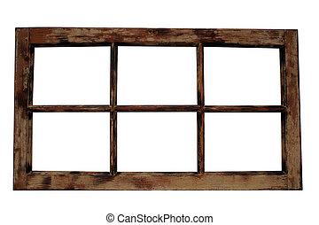 窗子框架, 風化