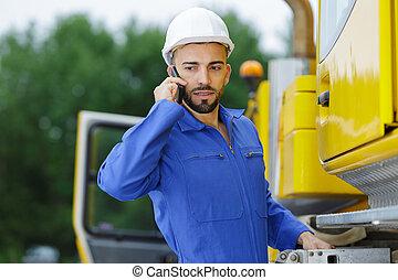 站點, 工程師, 電話, 建造者, 建設