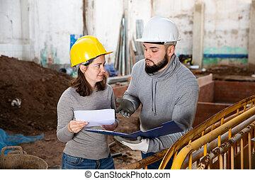 站點, 藍圖, 討論, 建設, 工程師