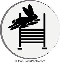 符號, 兔子, jump.