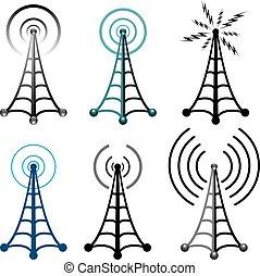 符號, 塔, 收音机
