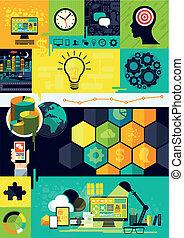 符號, 套間, infographic, 設計