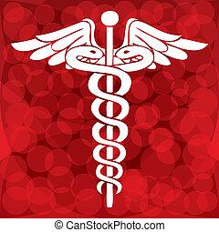 符號, 插圖, 矢量, 醫學, caduceus