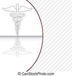 符號, 矢量, 醫學, illustration., caduceus
