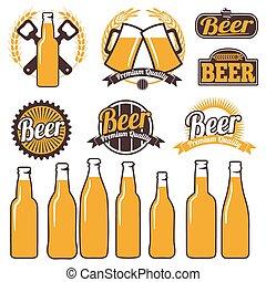 符號, 簽署, 標籤, 啤酒, 圖象