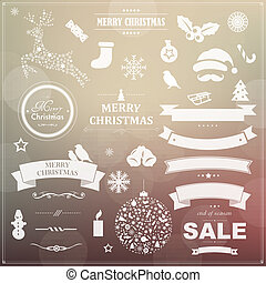 符號, 葡萄酒, 集合, 帶子, 聖誕節