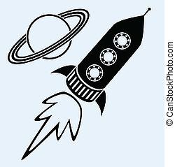 符號, 行星, 船, 土星, 火箭