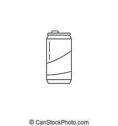 符號, 被隔离, 錫, 矢量, 罐頭, 背景, 白色, 圖象