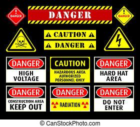 符號, 警告, 危險