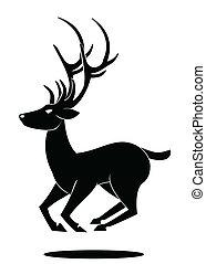 符號, 跳躍, 鹿