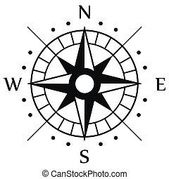 符號, 黑色, 指南針