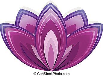 符號, yoga., 花, 蓮花