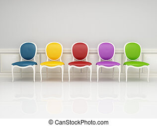 第一流, 椅子, 上色