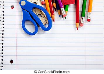 筆記本, 提供, 多樣混合, 學校