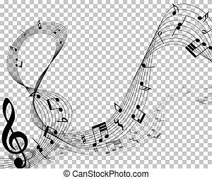 筆記, 音樂的人員