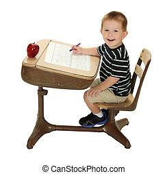 等級學校, 他的, 學生, 書桌