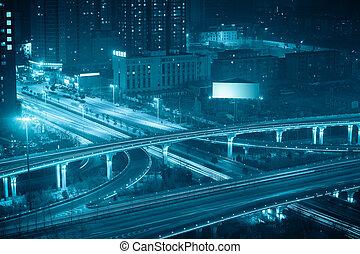 等級, 分開, 夜晚, 西安, 橋梁