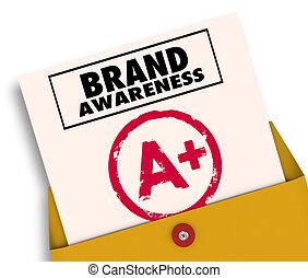 等級, 商標, 插圖, 加上, 卡片, 報告, 意識, 3d