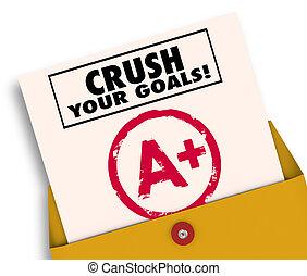 等級, 插圖, 易碎, 目標, 報告, 你, 卡片, 3d