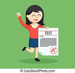 等級, 測試, 婦女, 老師