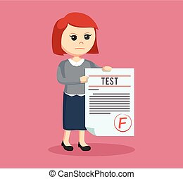等級, 測試, 婦女, 老師, f